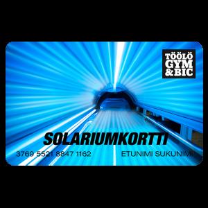TÖÖLÖ GYM Solariumkortti